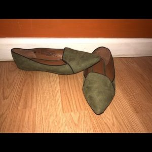 Old Navy Olive Green Suede flats